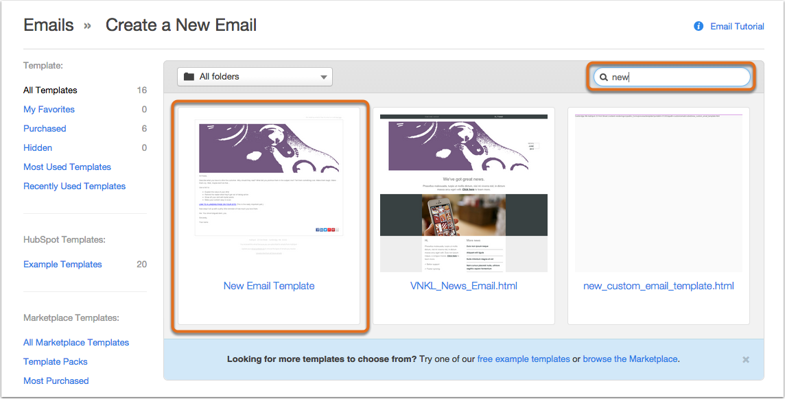 how to create email template