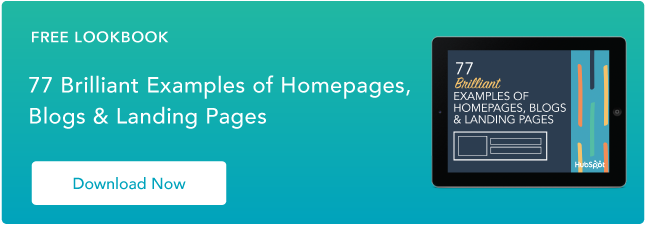 Examples Of Brilliant Homepage Blog And Landing Page Design