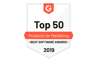 Ranked #1 in 2019 Best Product for Marketers category on G2