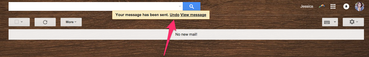 Undo Option After Sending Email
