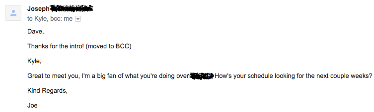 self introduction emails