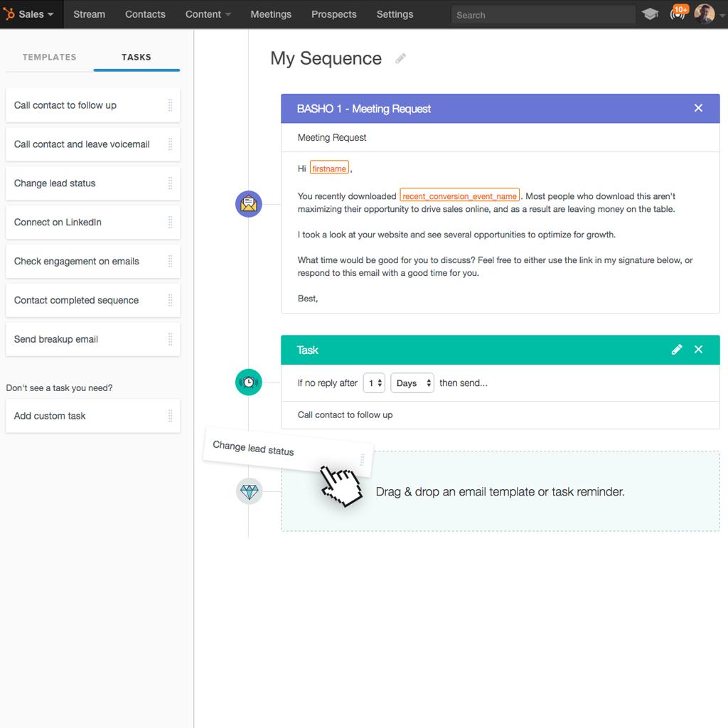 HubSpot Sequences Editor