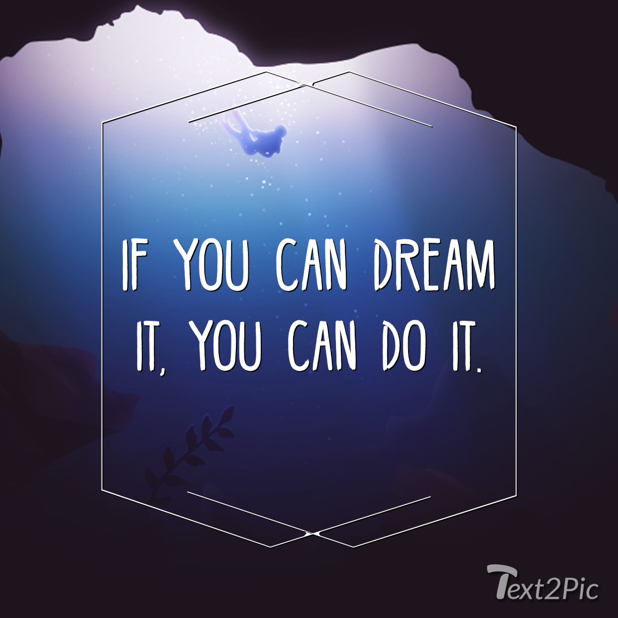 Image from Text2Pic, an Instagram text and quote maker app