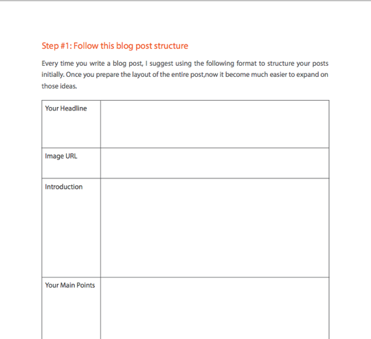 Lead magnet idea for a workbook