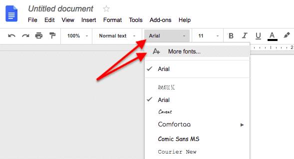 how to add custom font to google docs
