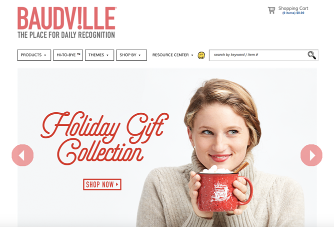 baudville holiday homepage