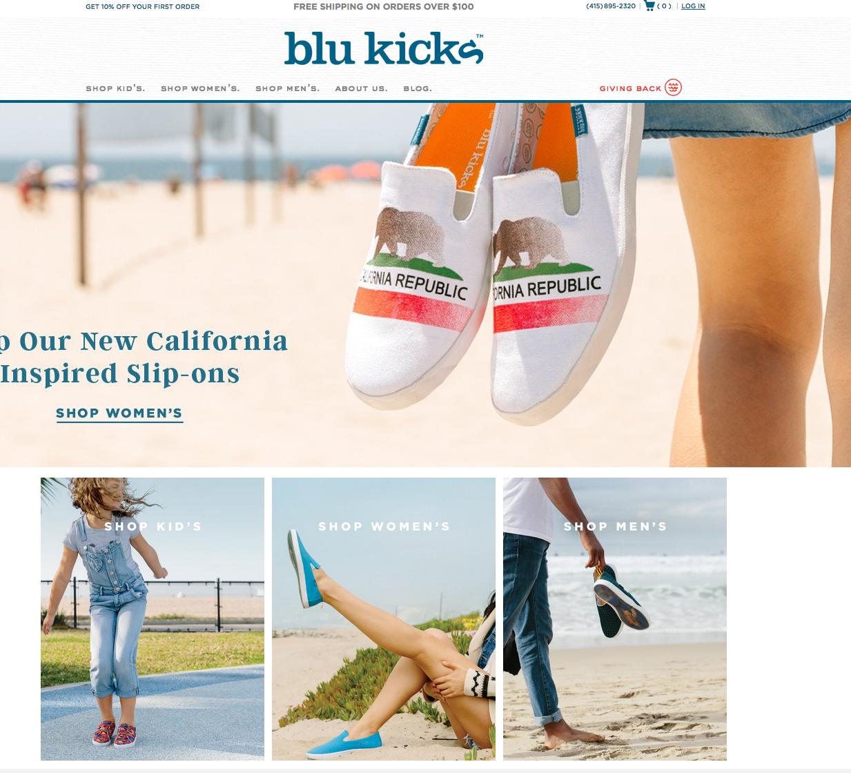 Beispiel eines Online-Shop – BluKicks