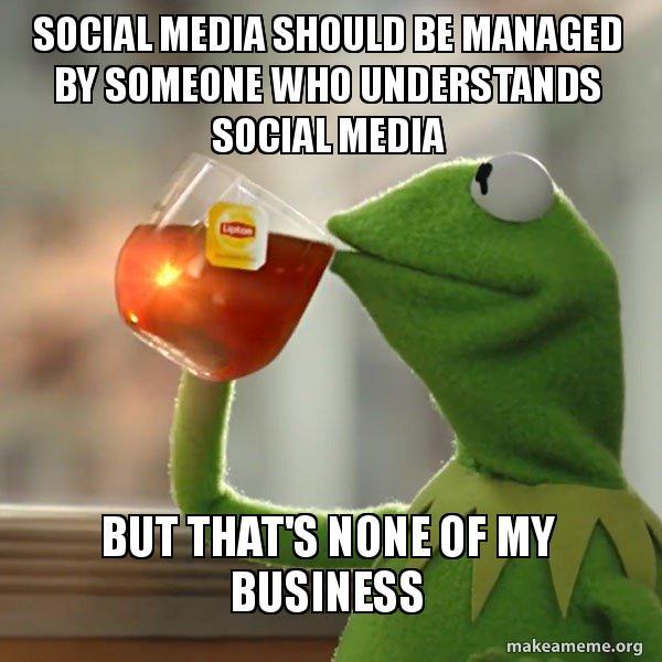 Pero ese no es mi meme comercial protagonizado por Kermit the Frog y un subtítulo de las redes sociales