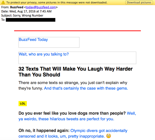15 of the best email marketing campaign examples youve ever seen buzzfeed email example 1gnoresize altavistaventures Choice Image