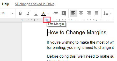 change margins google doc
