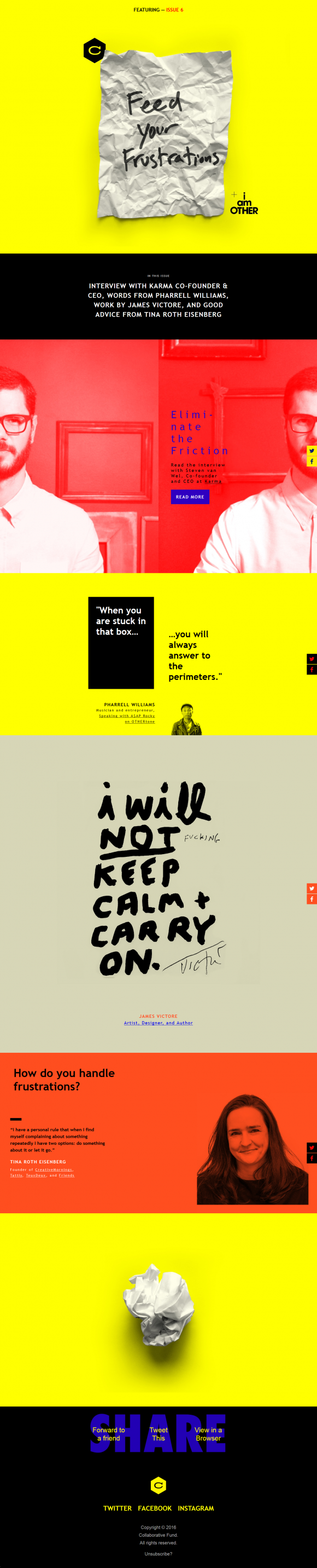 13 of the best examples of beautiful email design for Beautiful newsletter design