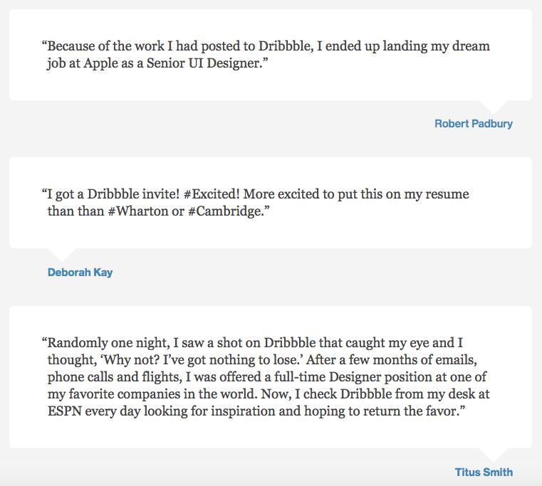 dribbble-testimonial-example