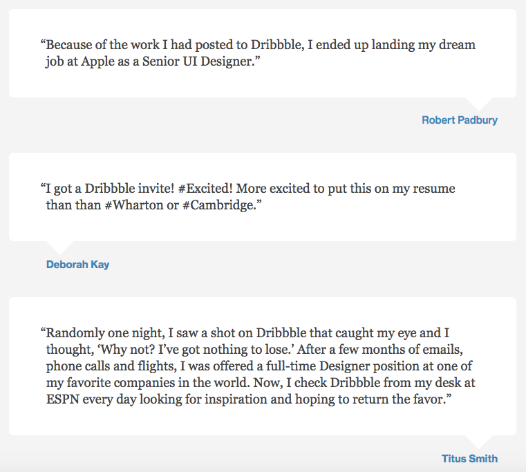12 testimonial page examples youll want to copy dribbble testimonial example altavistaventures Image collections