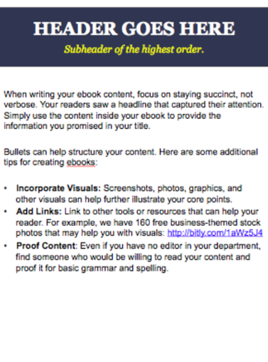 ebook template showing a chapter of a writer's style guide