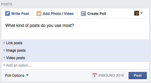 how to create a poll on facebook post