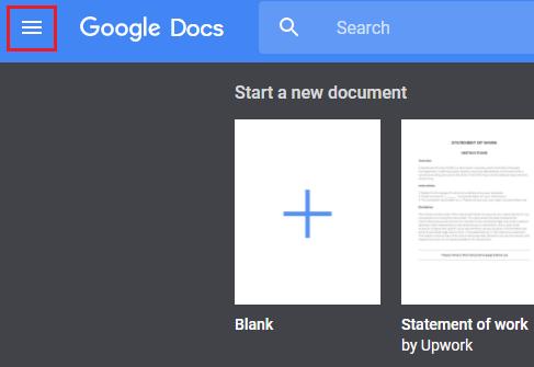 google-docs-menu