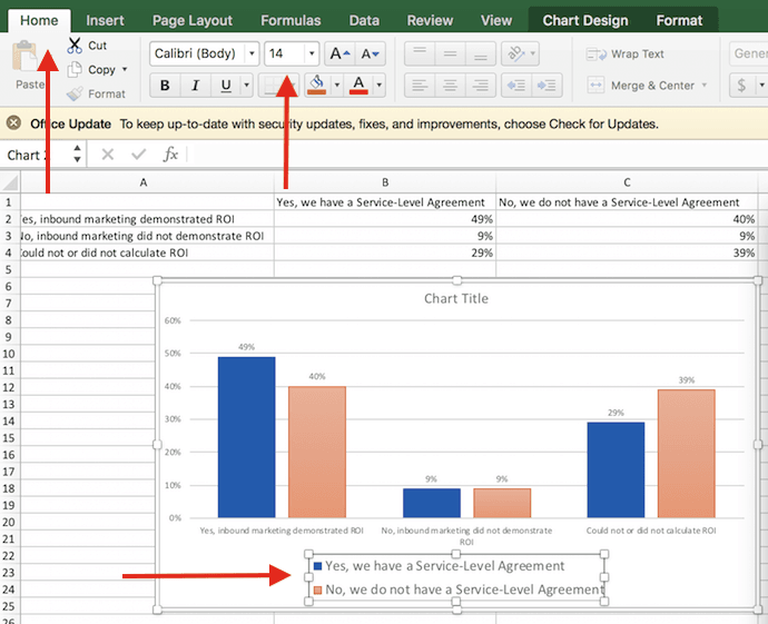 how to get legend in excel graph