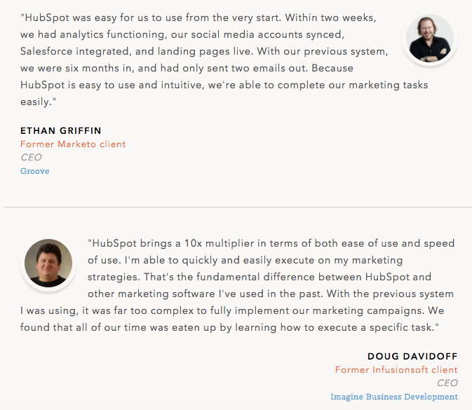 12 testimonial page examples youll want to copy hubspot testimonial example wajeb Image collections