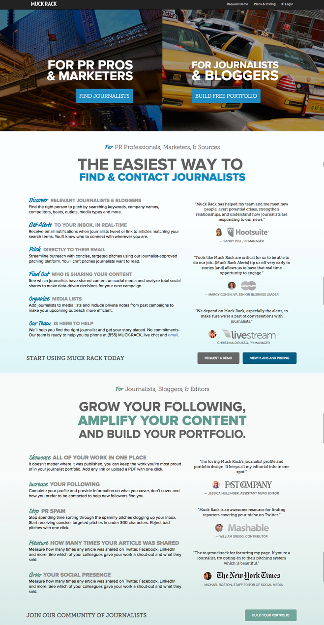 Great landing page copy