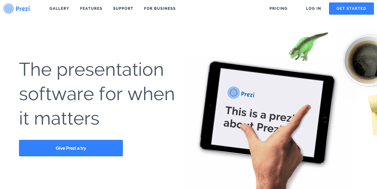 Prezi call to action button