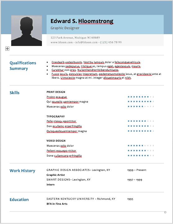 Social media marketing resume template