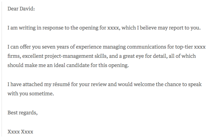 example of a good covering letter