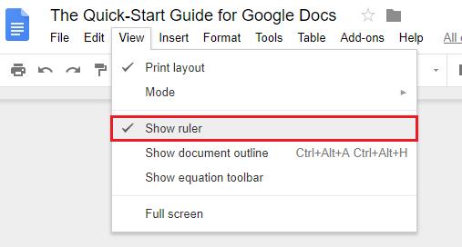 show-ruler