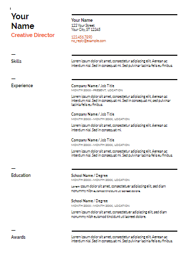 what a resume looks like