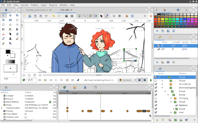 Synfig video animation software