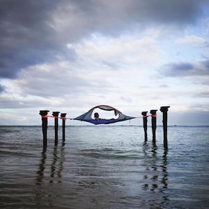 Tentsile Instagram account showing water hammock