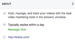 Wistia Facebook about preview.