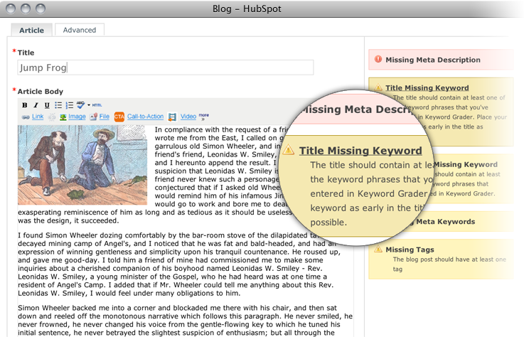 HubSpot's Blogging Software