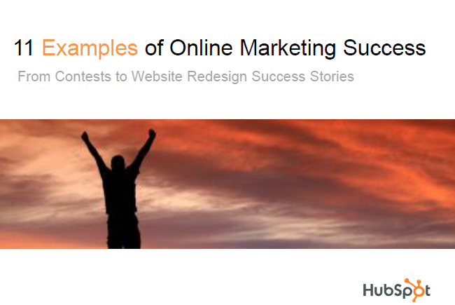 eBook Cover   11 Examples of Online Marketing Success