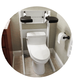 Pants Up Easy Toilet Model Freestanding