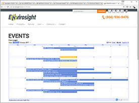Envirosight's Events Calendar