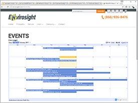 Envirosight's Events Calendar