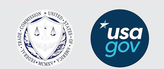 Federal Trade Commission and USAGov logos side by side.