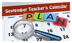 Accessible PDF September calendar
