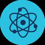 Atom science icon