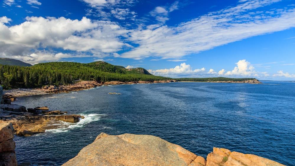 Coastal view of Acadia National Park, Maine, USA