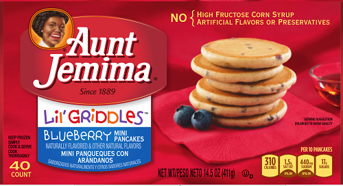 Aunt Jemima recalled product images.