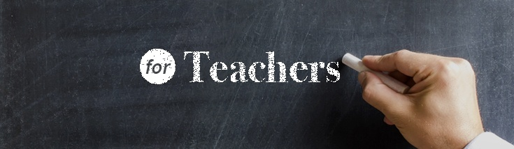 Chalkboard reads for Teachers. Link goes to USA.gov/education