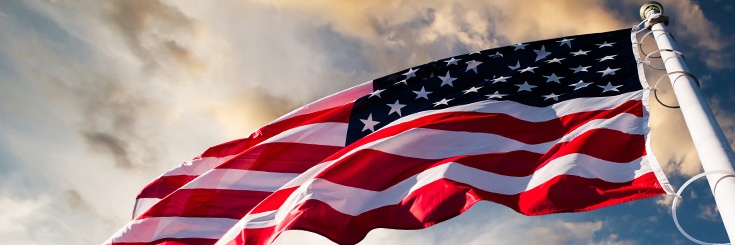American flag, takes you to USA.gov's landing page on U.S. residency, green cards, and citizenship requirements and related issues.