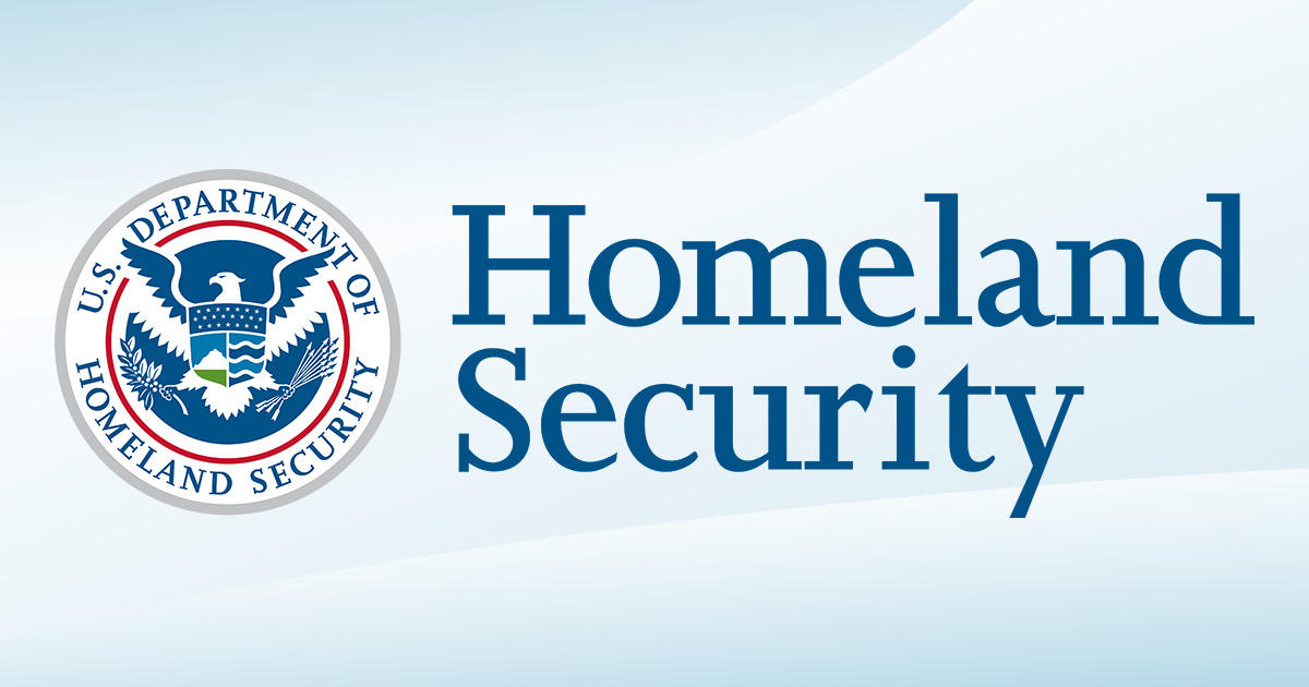 Department of Homeland Security seal next to the words