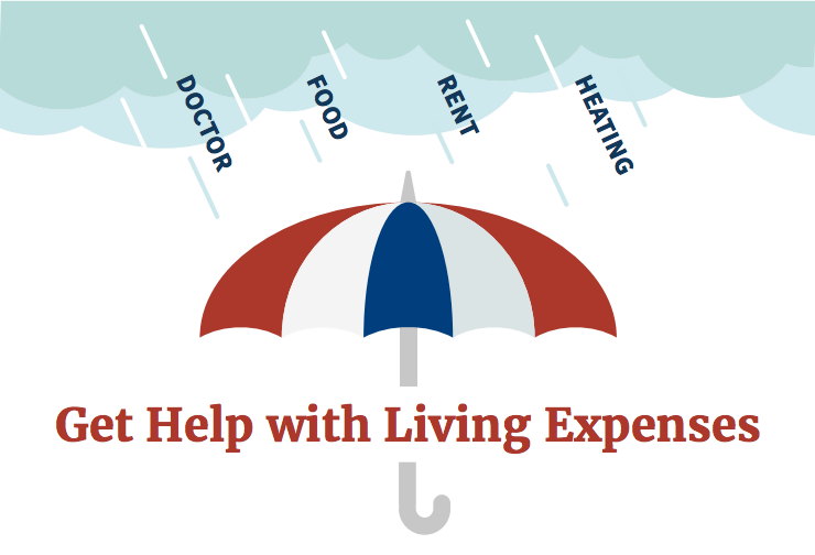 Portion of the infographic with an umbrella covering