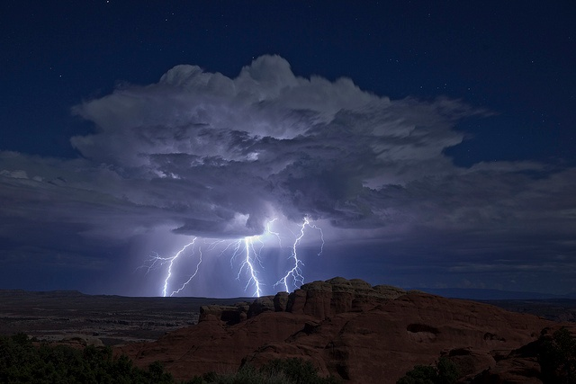 thunderstorm in the desert