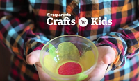 Video: Crafts for kids screenshot. Link goes to PBS Parent's page on Tissue Paper Flower Bowl.