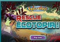 Screenshot of Ecotopia game. Link goes to PBS' Ecotopia game.