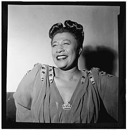 Picture of Ella Fitzgerald. Link takes you to Ella's Singing Class lesson plan.