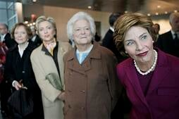 Former first ladies pose for a picture. Link takes you to Womenshistorymonth.gov